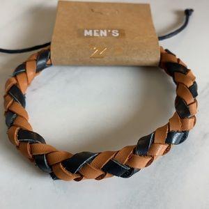 $10 or Less Item: Men's Leather Braided Bracelet